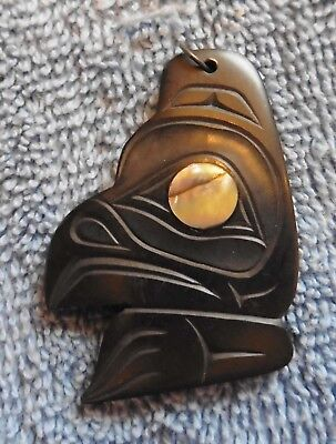 Canada Pacific NW First Nations Artist Glen Pollard 1985 Eagle Pendant