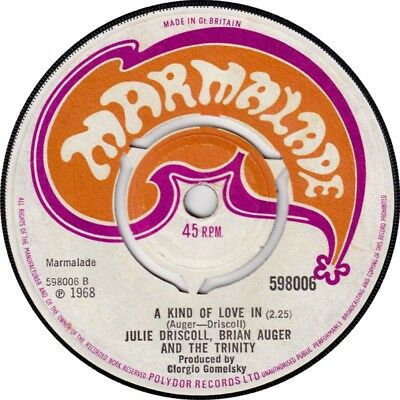 """Julie Driscoll, Brian Auger And The Trinity – This Wheel's Orig 7"""" Vinyl 45rpm"""