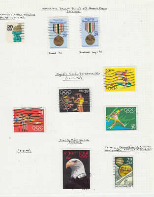 Two very nice United States 1991 album Pages Nice Bald Eagle issue