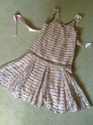MONSOON  BEAUTIFUL PINK SEQUINED   DRESS AGE 6/7 years