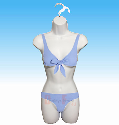 Clothing Display Mannequin - White Female Dress Body Woman Form + 1 Hook Hanger