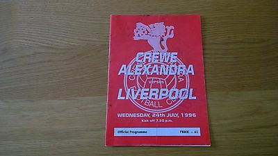 1996-97 Crewe Alex v Liverpool - Friendly - Autographed