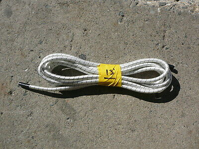 "White/Black Nylon Coated Rubber Rope Shock Cord 3/8"" X 13' Discounted Bungee"