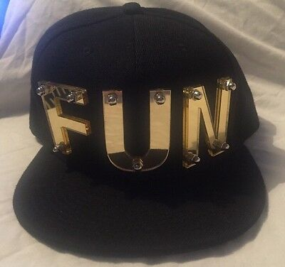Mens Black SnapBack Cap Hat With Fun Logo