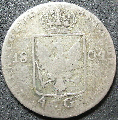 1804-A Prussia Germany Silver Four Groschen Coin