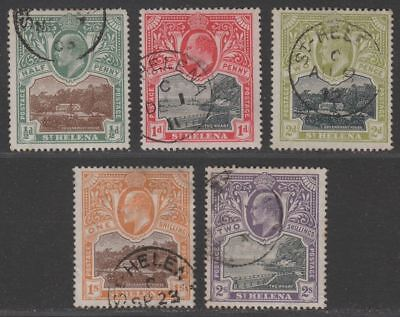 St Helena 1903 King Edward VII Part Set to 2sh Used cat £120
