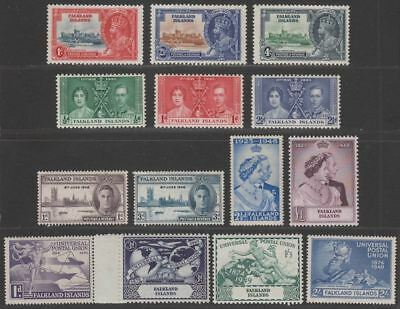 Falkland Islands 1935-49 KGV-KGVI Omnibus Selection Mint inc Silver Wedding, UPU
