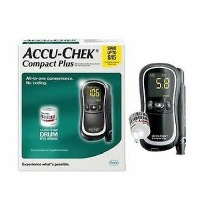 ACCU-CHEK Compact Plus Meter Kit with Lancing Device +17 Test Strips, NEW SEALED