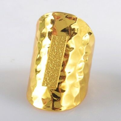Size 6.5 Blank Settings Cuff Open Ring Gold Plated Copper Brass Findings H103653