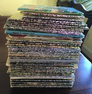 *Mixed Lot of 50 hardcover Little Golden Books Sesame Street, Disney, vintage