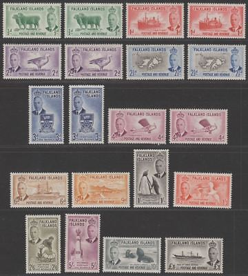 Falkland Islands 1952 King George VI Set Mint SG172-185 cat £180+