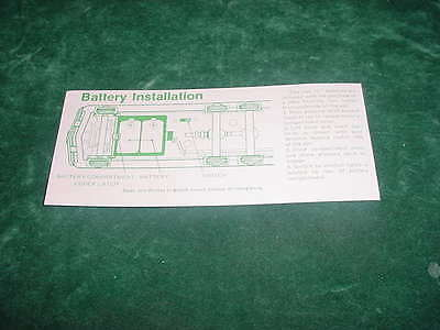 Christmas  Hess Replacement Parts 1980 Hess Battery Card Toy Truck Collectible