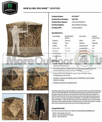 NEW BM01BB Big Mike Hunting Blind BLOODTRAIL Field Grass Blades Camo 80x75x75