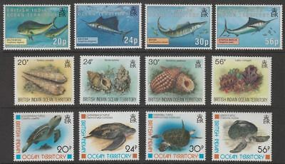 British Indian Ocean Territory 1995-96 Gamefish, Seashells, Turtles Sets UM Mint