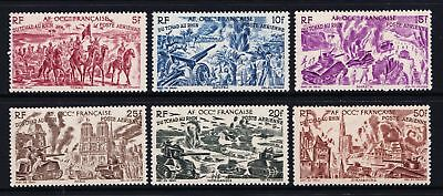 French West Africa 1946 Air - From Chad to the Rhine - MNH set - (486)
