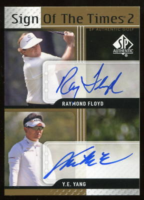 2012 SP Authentic SOTT Sign Of The Times Two 2 Raymond Floyd Y.E. Yang Auto