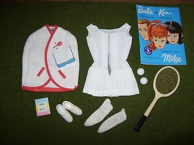 Vintage 1960s BARBIE Outfit & Booklet - TENNIS ANYONE? #0941 (Complete)