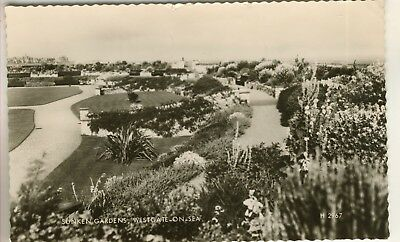 A Valentine's Real Photo Post Card of Sunken Gardens, Westgate-On-Sea. Kent.
