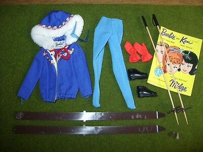 Vintage 1960s BARBIE Outfit & Booklet - SKI QUEEN #0948 (Complete)