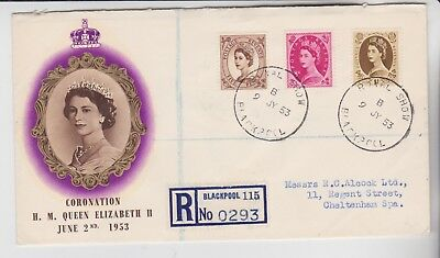 Gb Stamps 1953 Blackpool Show Souvenir Cover From Royal Show Collection