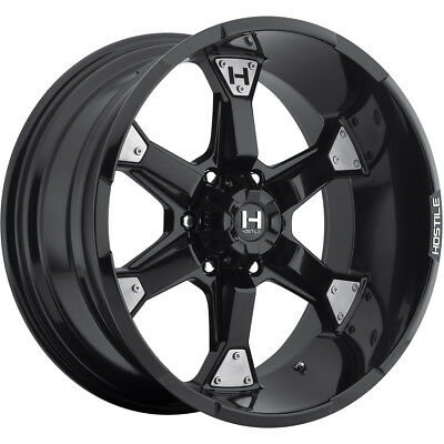20x10 Black Hostile Knuckles Wheels 6x135 -19 Lifted FORD F-150 EXPEDITION