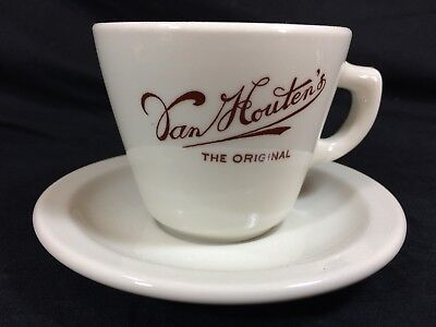 Van Houten's Cocoa Hot Chocolate Cup And Saucer Mayer China Vintage
