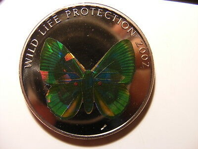 Congo, Democratic Republic, 2002, 5 Francs, Butterfly Hologram, Real Cool Coin