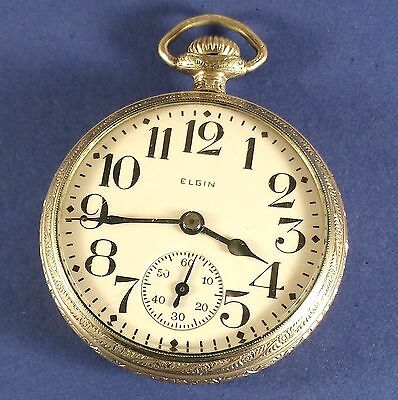 Vintage Elgin Pocket Watch 15 Jewels 16 Size S/N 27341375 Ca. 1925
