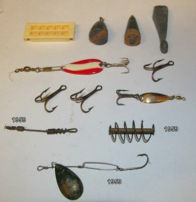 Vintage Fishing Tackle - Floats & Lures & Weights & Hooks