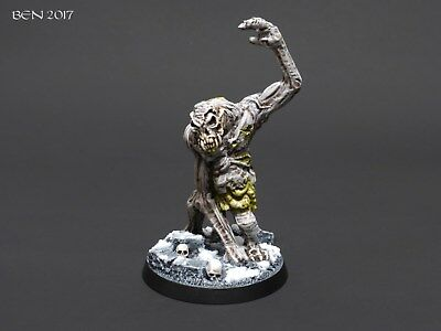 Painted Frostgrave Miniatures Zombie Snow Troll