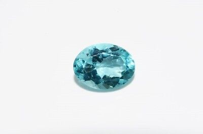 1.24Ct Natural Oval Cut Light Blue Apatite Loose Gemstone
