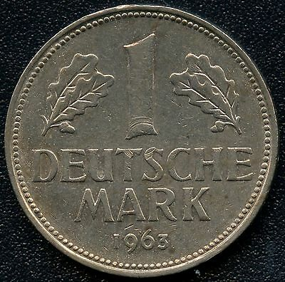Germany 1963 'D' 1 Mark Coin