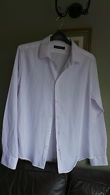 NEW Mens French Connection white cotton mix shirt Size XL immaculate