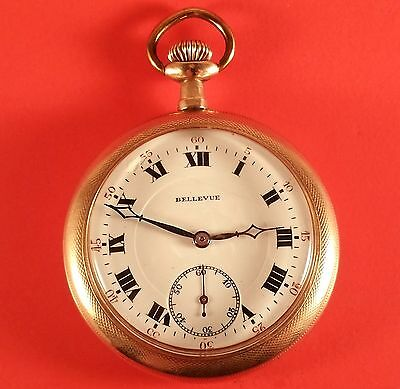 "Vintage Admiral ""Bellevue"" Swiss Pocket Watch 17 Jewels 47 mm Diameter"