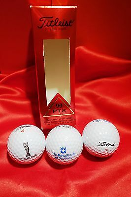 Royal Bank of Scotland Box of 3Golf Balls Official Bank Claret Jug The open BNIB
