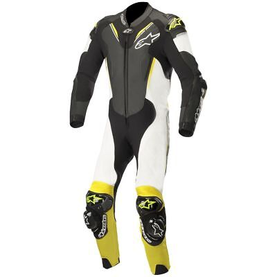 Alpinestars Atem V3 Perforated 1-Piece Leather Suit Black/White/Fluo Yellow