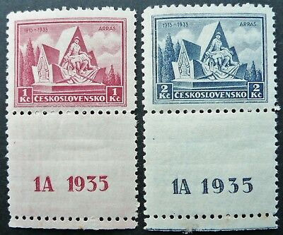Czechoslovakia 1935 Battle Of Arras Anniv. Stamp Set - Mnh - See!