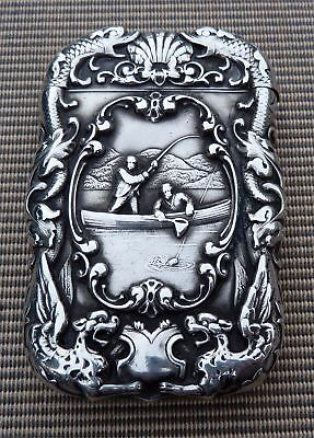 Fab Fishing Related Silver Vesta Case- 1899 Inscription / Inniskilling Fusiliers