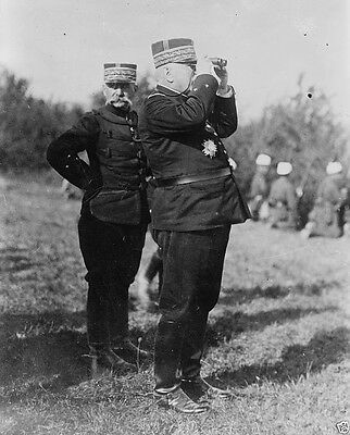 French General Joffre observing troop movements 1914 World War I 8x10 Photo