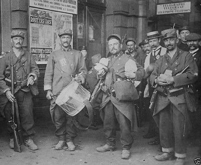 French soldiers in the town of Tournai Belgium 1914 World War I 8x10 Photo