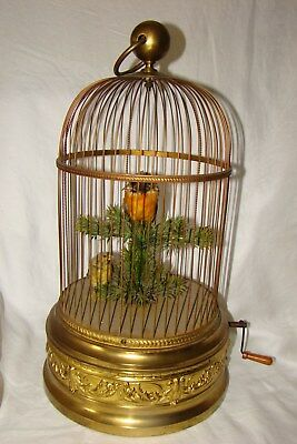 Magnificent Rare French Double Singing Bird Cage Music Box Automaton