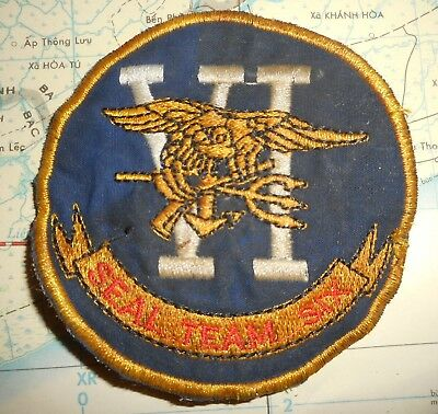 SEAL TEAM SIX - Patch - US NAVY - BLACK OPS - Airborne / Diver / HALO SCUBA, 316