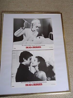 Dead & Buried Front Of House Film Stills 1981 2 Sci-Fi Horror Lobby Cards  Gems