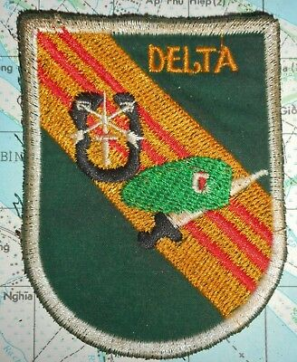 PATCH - Green Berets - B-52 OP DELTA - 7th Special Forces - Vietnam War - 288