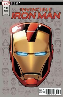 Invincible Iron Man #593 1/10 Headshot Variant Retailer Incentive Marvel Legacy