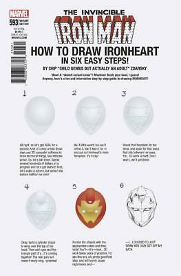 Invincible Iron Man #593 How To Draw Variant Marvel Legacy