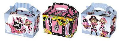 Wholesale Job Lot 150 Pink Pirate Themed Food Boxes *Party *Boys *Girls
