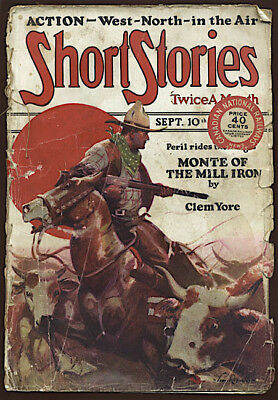 1927 Fiction Pulp SHORT STORIES James Reynolds Cover