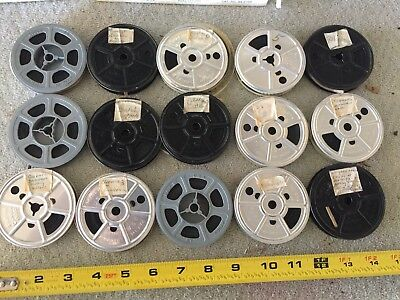 Lot of 15 Vintage 1940s-50s Homemade 8mm Film Reels Home Movies