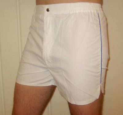 NEW Vtg 70s 80s Vanderbilt WHITE Striped Mens LARGE Retro TENNIS Track shorts L